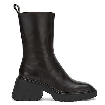 Ash OCEAN Brown Ebano Leather Heeled Boots