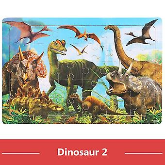 30Pcs jigsaw puzzle kids wooden toys cartoon animal wood puzzle board early learning baby educational toys for children