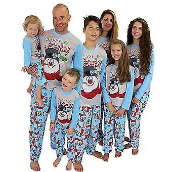 Family Matching Christmas Pajamas Set Print Warm Swearshirt And Pants