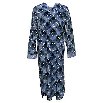 Soft & Cozy Women's Fleece Hooded Lounger with Pockets Blue 663003