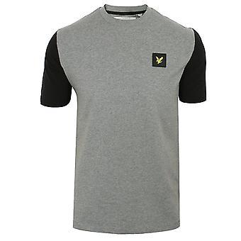Lyle & scott men's mid grey marl nylon sleeve t-shirt