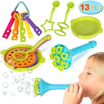 13pcs Soap Bubbles Kid Bubble Wedding Toy Bathroom Bathtub Party Game Summer Outdoor Toys Gift For Children Baby