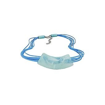 Necklace Tube Flat Curved Turquoise 45616 45616 45616