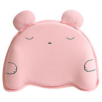 Oreiller bébé rose Tête de bébé Mise en forme Oreiller en mousse à mémoire de forme Oreiller en mousse