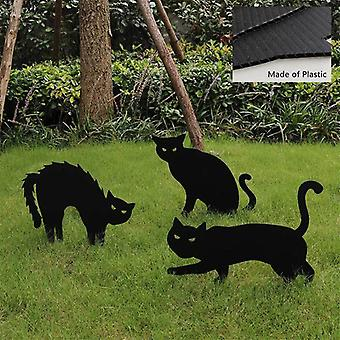 Halloween Props, Black Cat Silhouettes, Garden Signs, Lawn Piles, Horror Party Supplies, Funny Halloween Decorations