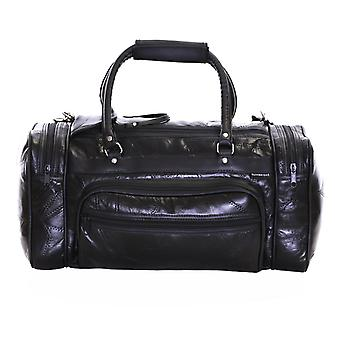 Slimbridge Blumberg Leather Travel Bag, noir