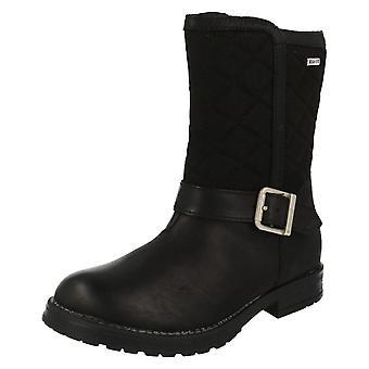 Junior Girls Startrite Water Resistant Calf Length Boots Aqua Jessie