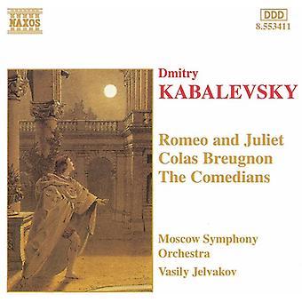 D. Kabalevsky - Kabalevsky: Colas Breugnon; the Comedians; Romeo and Juliet [CD] USA import