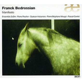 Ensemble 2E2M - Franck Bedrossian: Manifest [CD] USA Import