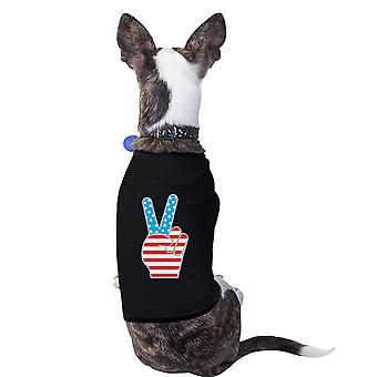 American Flag Pets Shirt Black 4th Of July Small Dog Owners Gifts