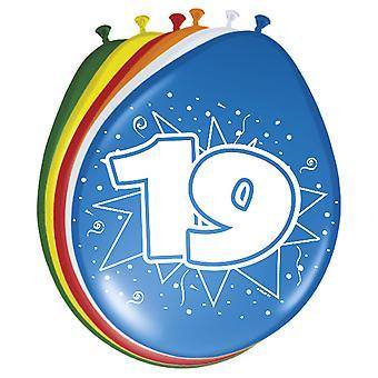 Farverige balloner ballon antal 19 8 St. dekoration balloner fødselsdagsfest