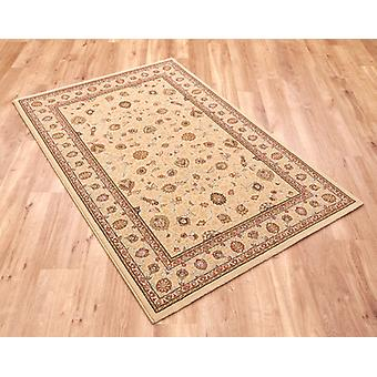 Noble Art 6529-190 Ivory with gold and beige design and viscose accents. Circle Rugs Traditional Rugs