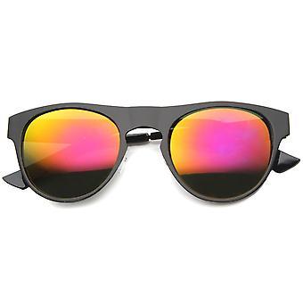 Mens metaal Aviator zonnebril met UV400 beschermd gespiegelde Lens