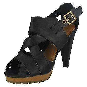 Ladies A&M Classic Cross Over Heeled Sandals