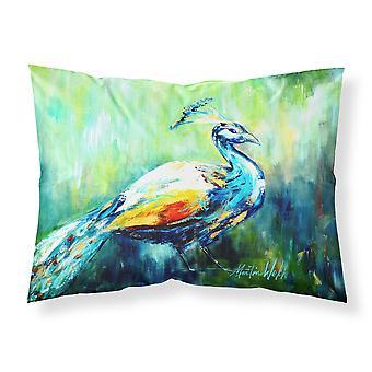 Proud Peacock Green Moisture wicking Fabric standard pillowcase