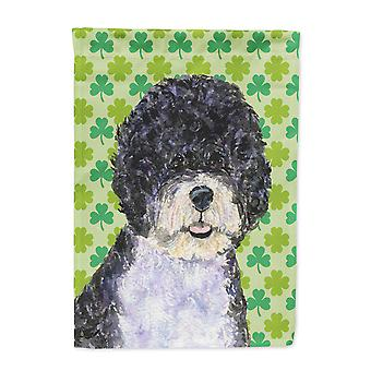 Carolines Treasures  SS4421-FLAG-PARENT Portuguese Water Dog St. Patrick's Day S