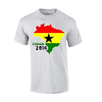 Ghana 2014 Country Flag T-shirt (grey)