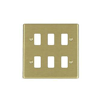 Hamilton Litestat Hartland Satin Messing 6g Apert Gridfix Platte + Netz