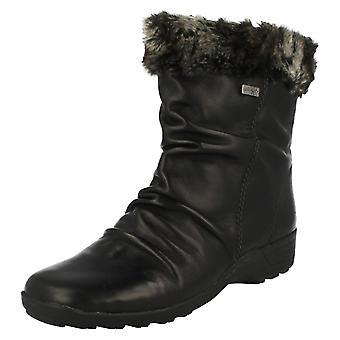 Damen Remonte Fell gekrönt Ankle Boots D0593