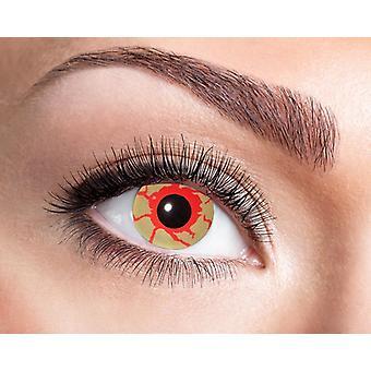 Verinen silmät Halloween piilolinssit veren