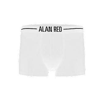Alan Red Short Boxer ( 7013) White ( two pack)