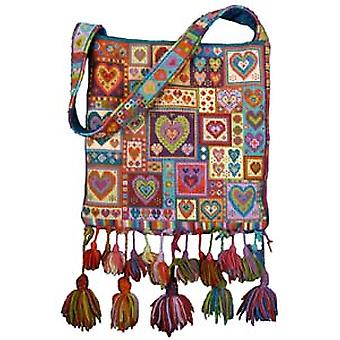 Little Heart Patchwork Bag Mezzopunto Kit