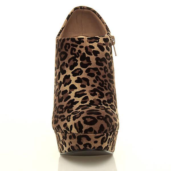 Ajvani womens plate-forme de haut talon partie zip cheville chaussure de mode bottes bottines