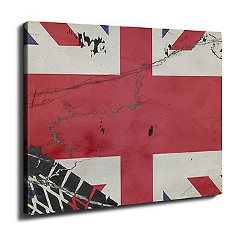 Union Jack Flag Wall Art Canvas 40cm x 30cm | Wellcoda