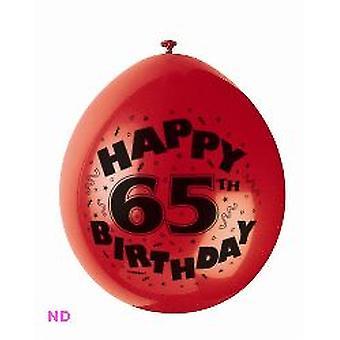 "Ballonnen 'Gelukkig 65ste verjaardag' 9"" Latex ballonnen (10)"