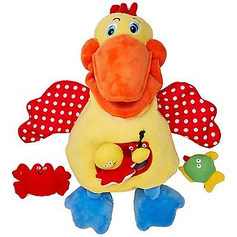 Melissa & Doug Kids Soft Baby Educational Toy Hungry Pelican