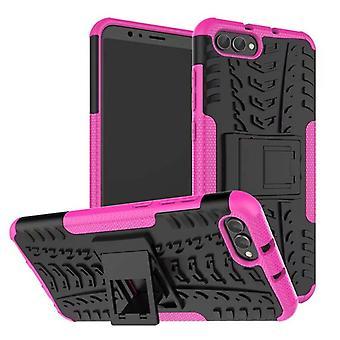 L'affaire mixte 2 piece SWL extérieure rose pour Huawei honor vue 10 / V10 Pocket sleeve housse de protection