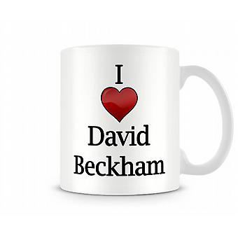 Ik hou van David Beckham bedrukte mok