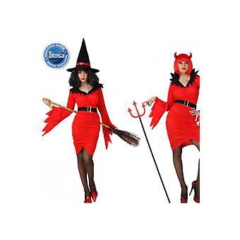 Vrouwen kostuums heks of duivel kostuum voor halloween