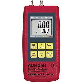 Greisinger GMH 3161-01 Pressure gauge Air pressure, Non-corrosive gas, Corrosive gas -0.001 - 0.025 bar
