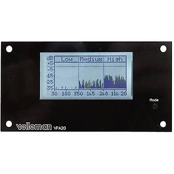 Velleman K8098 Analizador de audio Kit de montaje 12 V DC