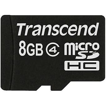 Standaard Transcend microSDHC kaart 8 GB Class 4