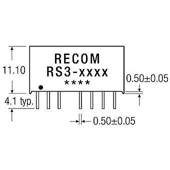 RECOM RS3-1209S DC/DC omvandlare (tryck) 12 V DC 9 V DC 333 mA 3 W nej. av utgångar: 1 x
