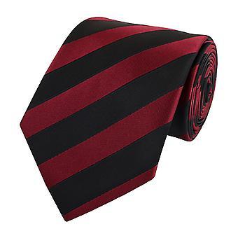 Schlips Krawatte Krawatten Binder 8cm schwarz dunkelrot gestreift Fabio Farini