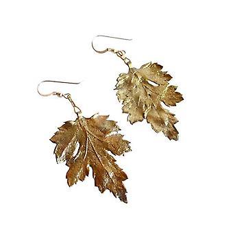 Blad øreringe ørekrog MARIA-CHRISTINA guld krysantemum