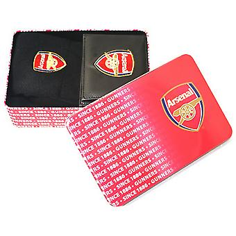Arsenal FC Mens Official Supporters Wallet And Socks Tin