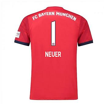 2018-2019 Bayern München Adidas hjem fotball skjorte (Neuer 1)