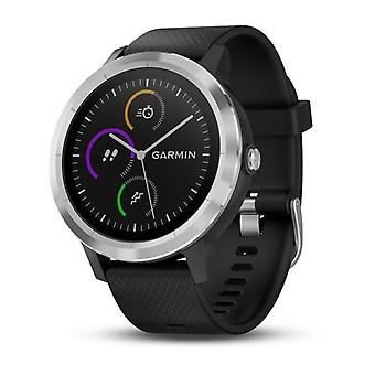 Garmin Vivoactive 3 GPS Smartwatch with Contactless Payments and Wrist-based Heart Rate - Black with Silver Hardware (010-01769-B0) (Support EU languages)
