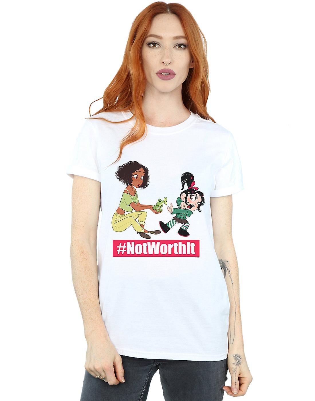 Disney Women's Wreck It Ralph Tiana And Vanellope Boyfriend Fit T-Shirt