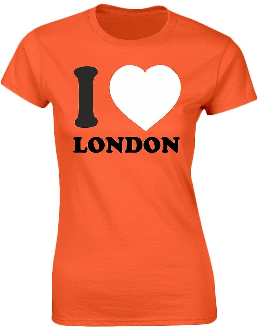 I Love London Funny Womens T-Shirt 8 Colours by swagwear