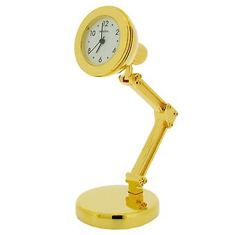Gift Time Products Study Lamp Mini Clock - Gold