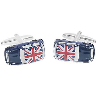 Zennor Mini Union Jack on Roof Cufflinks - Blue/Red/White