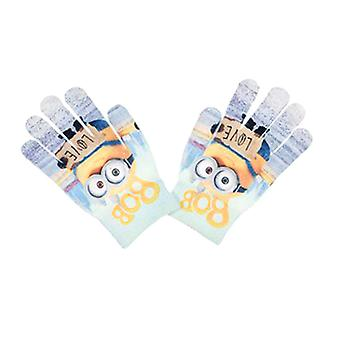 Minions mittens fingergloves One Size Blue/Grey