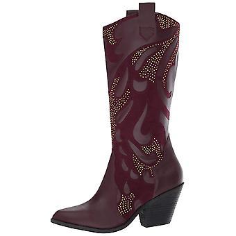 Carlos by Carlos Santana Womens Axel Leather Pointed Toe Mid-Calf Cowboy Boots