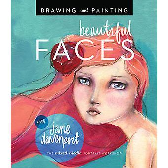 Piirustus ja maalaus kauniit kasvot - Mixed-Media Muotokuvan työpaja