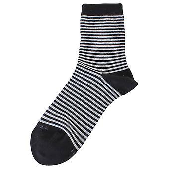 Burlington Ladywell Tesmaperhonen sukat - musta/hopea